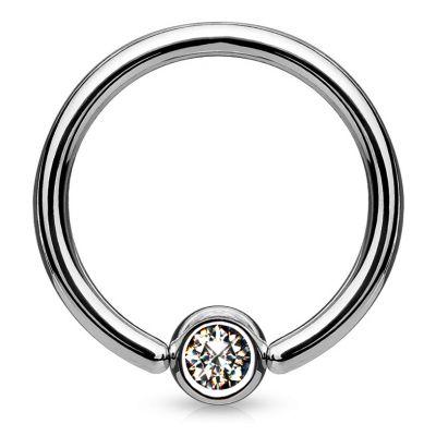 Titanový kroužek s kamínkem